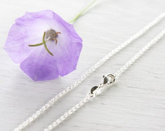 24 inch Long Fine 925 Sterling Silver Chain Necklace Thin Link Chain Cable Oval Finished Necklace for Pendant Ready to Wear Gift for her