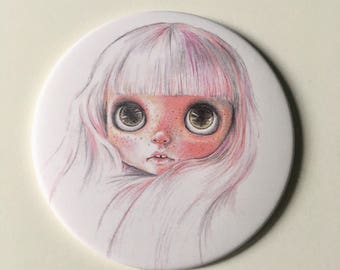 Pocket mirror-blythe pocket mirror, illustrated mirror