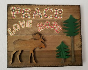 Cabin Decor Wall Hanging Inspirational Nature Home Decor Moose