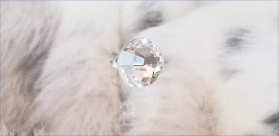 11mm Crystal Clear Stud Earrings Titanium w/ Swarovski gems Hypoallergenic Dance Competition large Rhinestone Minimalist Silver Post Jewelry
