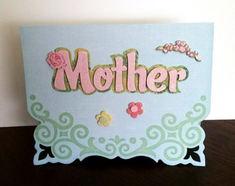 Mother's Day Card, greeting card, handmade card, for women