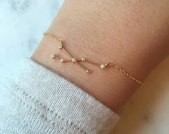 Inspirational Bracelet, Gold Zodiac Bracelet Zodiac Sign Bracelet Constellation Bracelet Constellation Jewelry Astrology Bracelet Gift