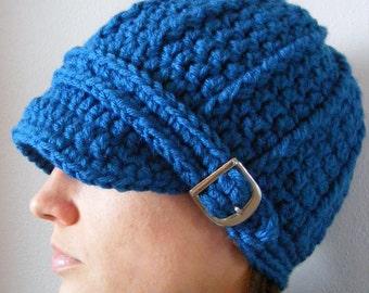 Womens Hat Womens Beanie Womens Cap Sapphire Blue Hat Blue Beanie Blue Cap Sapphire Hat Sapphire Beanie Sapphire Cap Crochet Winter Hat