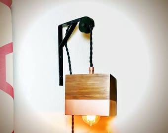 Edison wall lamp sconce pendant pulley lamp copper modern edison box lamp pulley lamp pendant sconce copper modern industrial steampunk lamp bar lighting aloadofball Choice Image