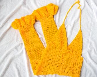The Summer Time Fine Crochet Romper
