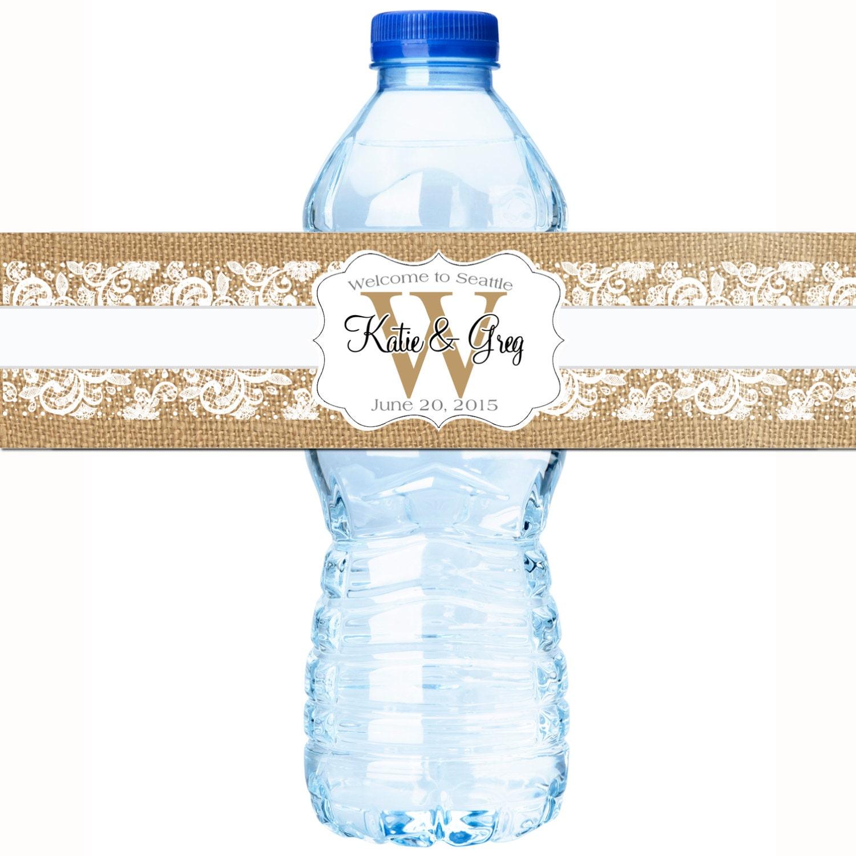 30 Wedding Water Bottle Labels Wedding Bottled Water Labels