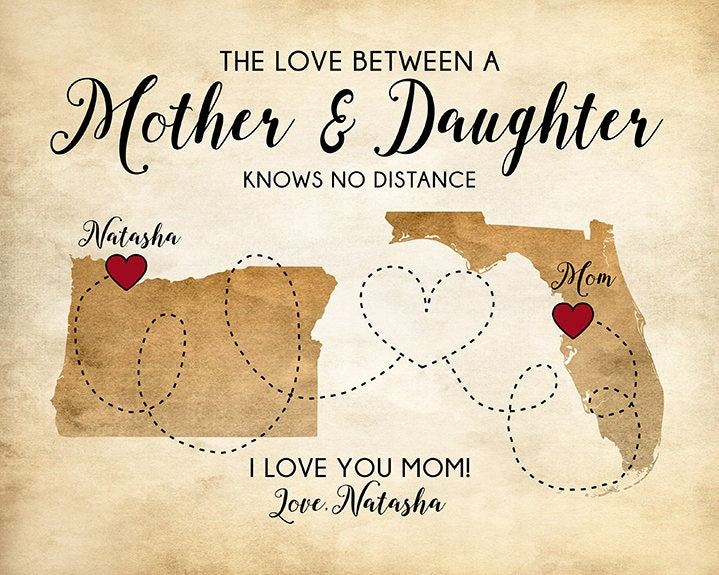 Gifts For Moms, Personalized Gifts, Mother Daughter Quotes