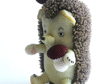 "Pattern / Tutorial Beaded Ornament - Master class for creating ""Hedgehog Bead"""