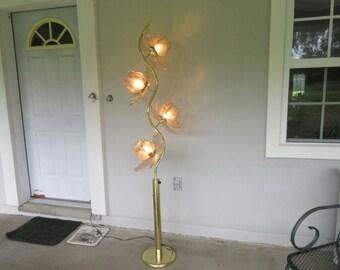 Glass floor lamp | Etsy
