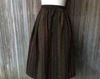 1970s Striped Wool Skirt