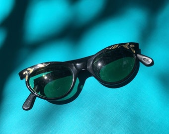 Black Cat Eye Sunglasses, Vintage Sunglasses, Black Cat Eyeglasses, Cat Eyeglasses, Cat Eye Sunglasses, Retro Sunglasses, Vintage Eyewear