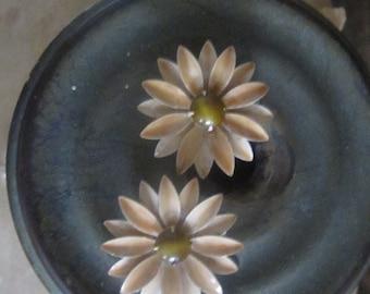 1960s Robert Originals enamel flower earrings • 60s mod earrings