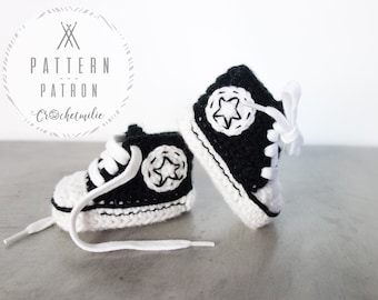 CROCHET PATTERN #013---Cool baby shoes
