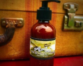 Bearded Ginger Lotion-Organic Body Lotion, Organic Moisturizer, Organic Hand Cream, Gift for Him, Gift for Her, Organic Skin Care
