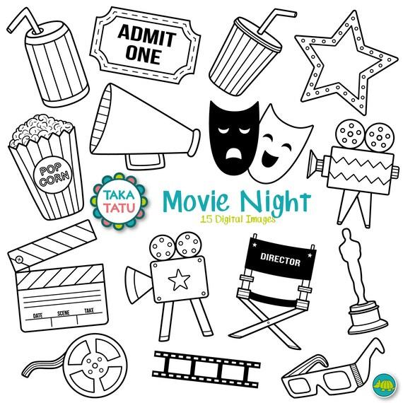 movies digital stamp movies clipart movie night movie clipart rh etsystudio com movies clipart telugu movies clipart telugu