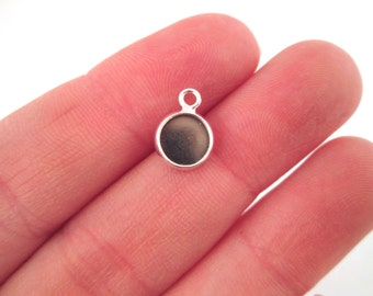 6.5mm silver plated bezel settings, pick your amount, B153