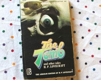 The Tomb And Other Tales by H.P. Lovecraft. 1960s H.P. Lovecraft Short Story Collection.  Rare Occult Supernatural Horror Fiction Stories.