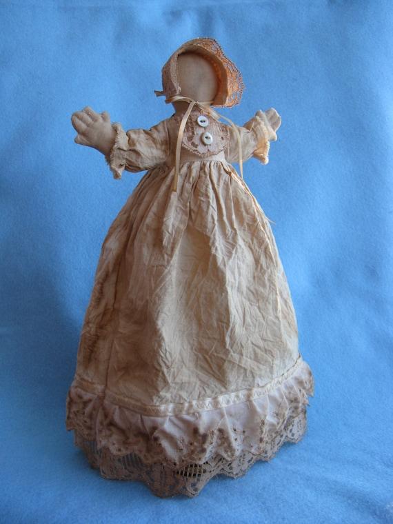 Hannah Prairie Doll - Cloth Doll E-Pattern Rustic 14in Primitive Prairie Doll epattern