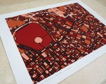 London Art Map - Camden & King's Cross - Limited Edition Contemporary Giclée Print
