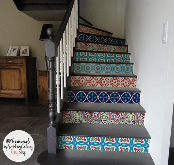 10 degr d calque contremarche descalier autocollant. Black Bedroom Furniture Sets. Home Design Ideas