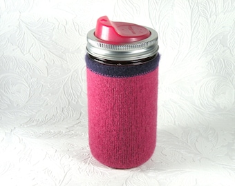 Jar Cozy - 3/4 pint size - pink