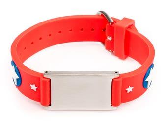 Children Emergency Alert ID bracelets, boys ID emergency bracelet, girls emergency ID bracelet, Sos bracelet, Id wristband kids