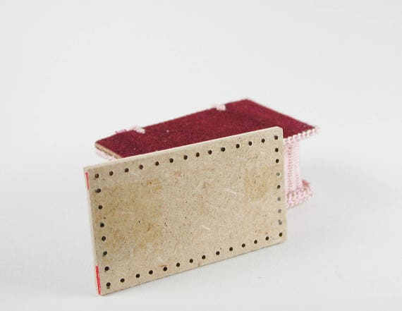 Board approx. 3 x 3.5 cm, for a chest, floor for wicker, for tinkering for the doll's room, Dollhouse miniatures, model making