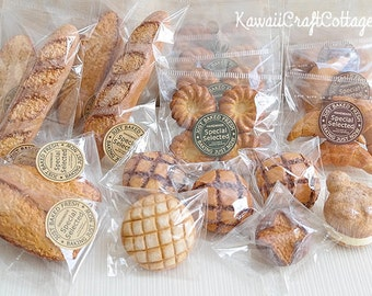 Miniature Food Bakery Bread Choux Cream Pastry Croissant Dolls Fake Food, American Girl Doll AGD SD msd Yosd bjd Dolls Food, 1:3, 1/4 Scale