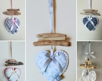Hanging decor Driftwood heart mobile