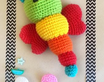 Crochet Amigurumi Butterfly Bug Baby Toy