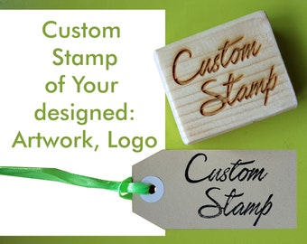 Custom stamps, custom logo, laser logo, Brand stamp, company stamp, customizable, custom, 3 x 4 cm (1.19x 1.56 inch)