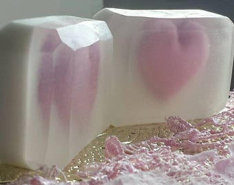 Cherry Blossom Scented Soap / Handmade Soap Bar /Glycerin and Shea Butter Soap / Natural Soap / 2.5 oz Soap Bar / Frosted Cherry Blossom
