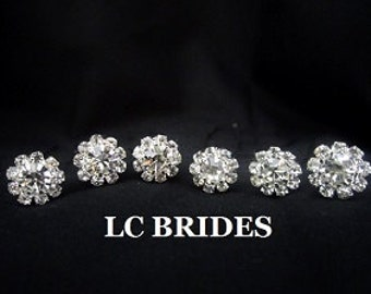 Bridal Hair Pins Rhinestone Crystal