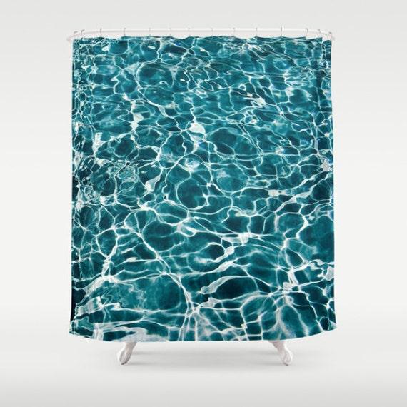 POOL Shower Curtain, Water Shower Curtain, Bathroom, Aqua Blue Home Decor, Nautical Shower Curtain, Nature Shower Curtain, Surf, Tropical