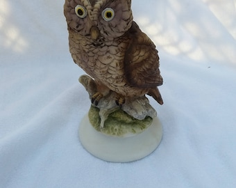 Vintage Porcelain Lefton Owl Figurine, Japan