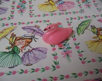 wee tiny pink swan