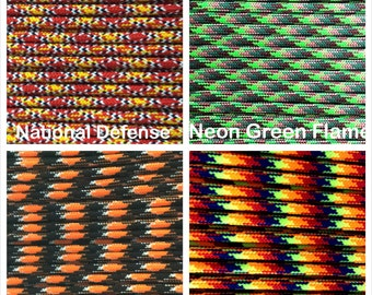 Paracord 550 Mil Spec Type III 7 strand Patterns Bracelet Necklace Survivor Parachute Cord 1-1000' Lengths