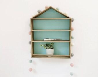 Pom Pom Garland, Feltball Garland, Pink, Duckegg blue Grey & white Felt ball Garland, Nursery Decor, Kids room Decor, UK, Baby Shower Decor