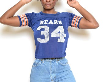 Vintage 60's Chicago Bears Cropped Jersey Sz XS