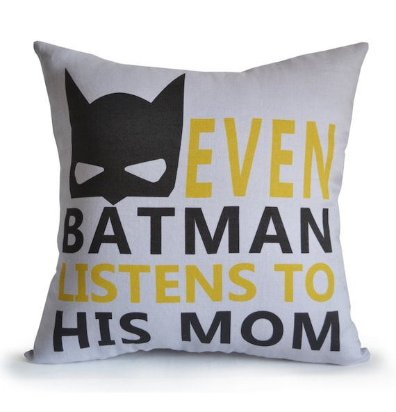 Nursery Decor Boy Room Pillow Cover Kids Room Decor Batman