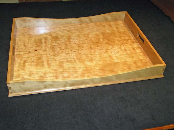 "15"" x 21"" Curly Cherry Ottoman Tray"