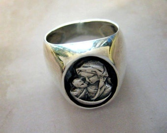 925 Silver tail ring Madonna