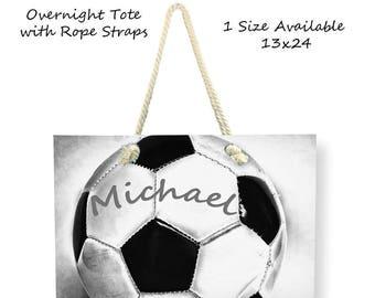 Personalized Bag-Overnight Bag-Soccer Tote Bag-Soccer Bag-Custom Sports Bag-Adjustable Tote Bag-Shoulder Tote Bag-Weekender Bag-Sports Tote