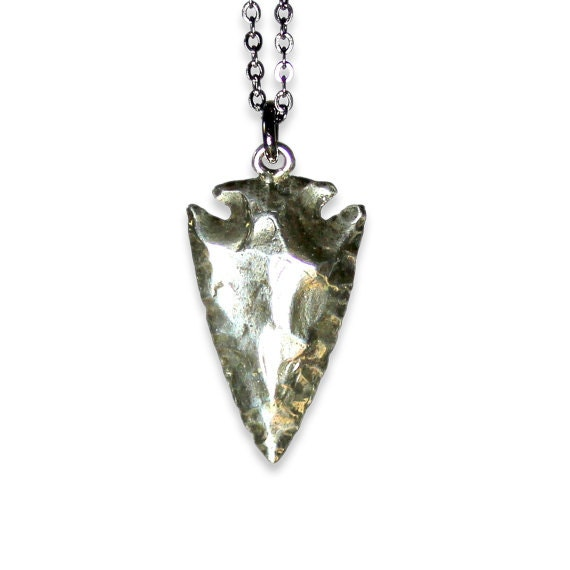Arrowhead necklace in solid white bronze with sterling overlay aloadofball Gallery