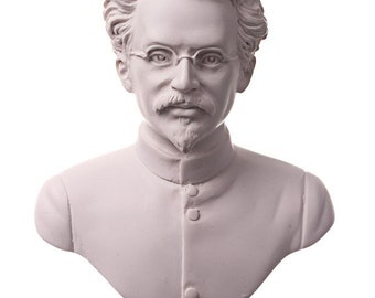 Russian Soviet USSR Communist Leon Trotsky Marble Bust / Statue 6.3'' (16cm) white