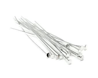 6 pcs AC0104 925 50 mm silver flat head nails