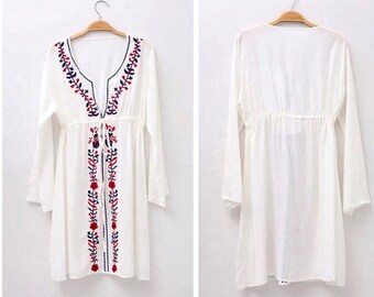 White embroidered dress