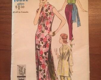 Vintage 60s Vogue 5866 Dress, Tunic and Pants - size 10