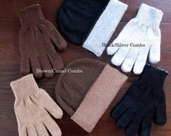 Warmest hat & glove set in Alpaca!