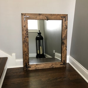 JACOBEAN Mirror, Wood Framed Mirror, Handmade Rustic Wood Mirror, Bathroom  Mirror, Framed